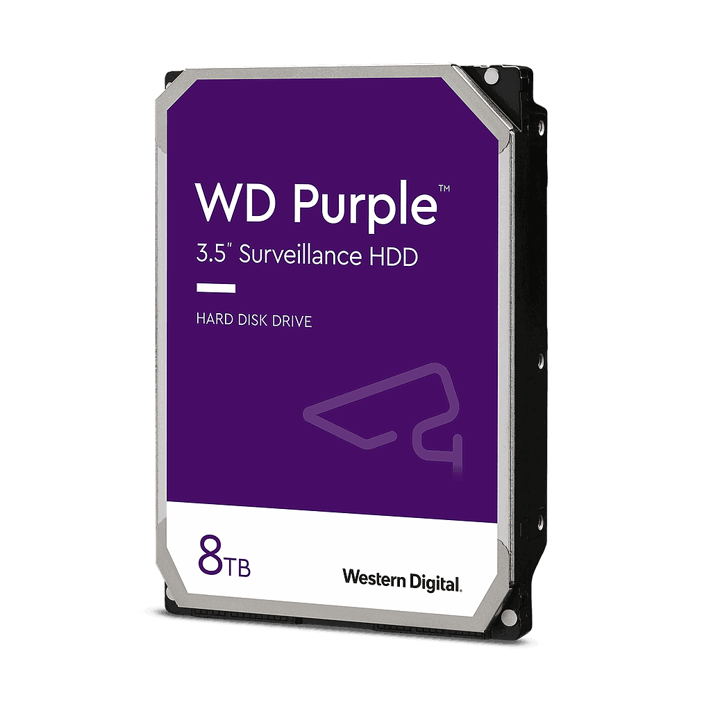 DISCO DURO 8TB WESTERN DIGITAL PURPLE VIDEO VIGILANCIA
